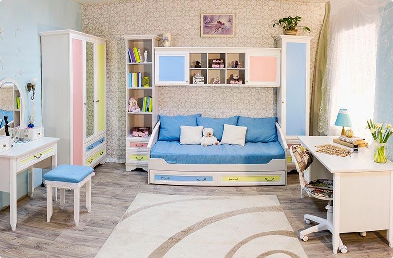 Мебель для детской 38 попугаев Классика Карамель