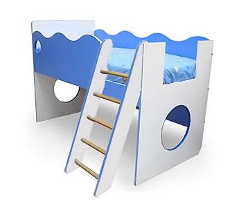 Кровать-чердак с лестницей Морячок