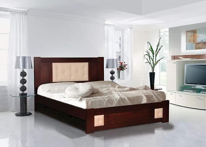 Кровать Альянс XXI век Лион 2 (кожа) с ящиками