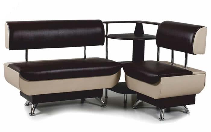 Кухонный уголок Бител Валенсия диван МД 1000 + МД 600 + ПУ 500