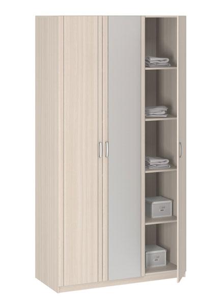 Шкаф 3-х дверный с зеркалом Боровичи Лотос АРТ-8.03Z