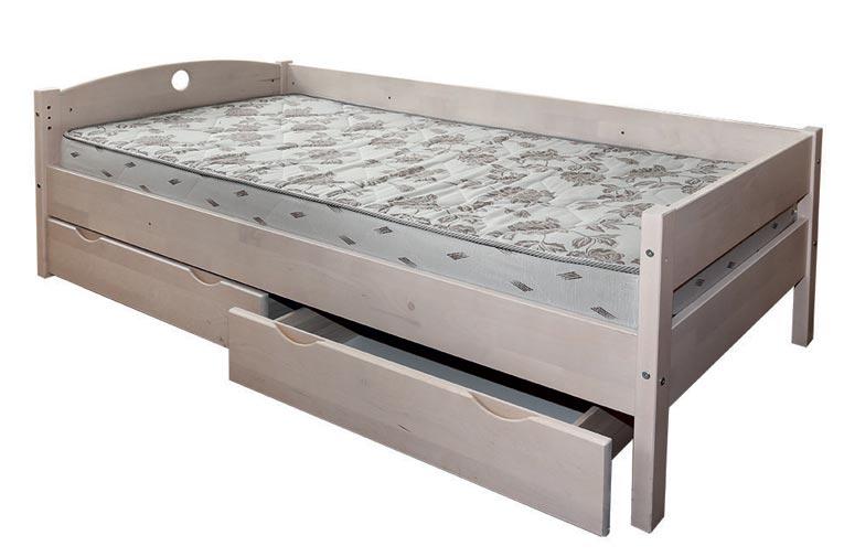 Кровать Боровичи Массив с ящиками