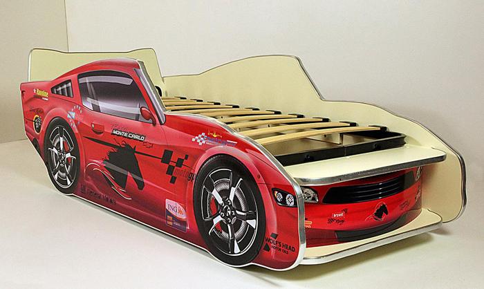 Кровать-машинка Молния Мустанг 150