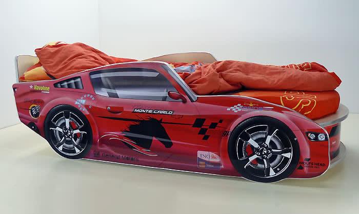 Кровать-машинка Молния Премиум с матрасом