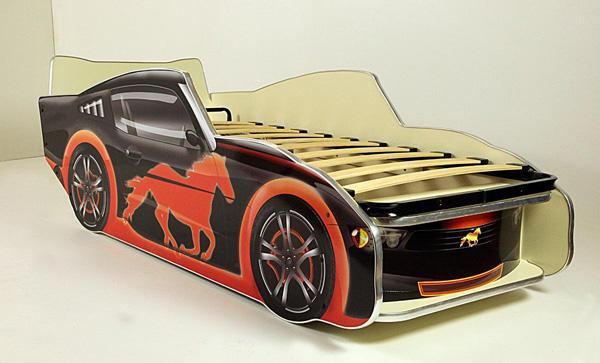 Кровать-машинка Мустанг