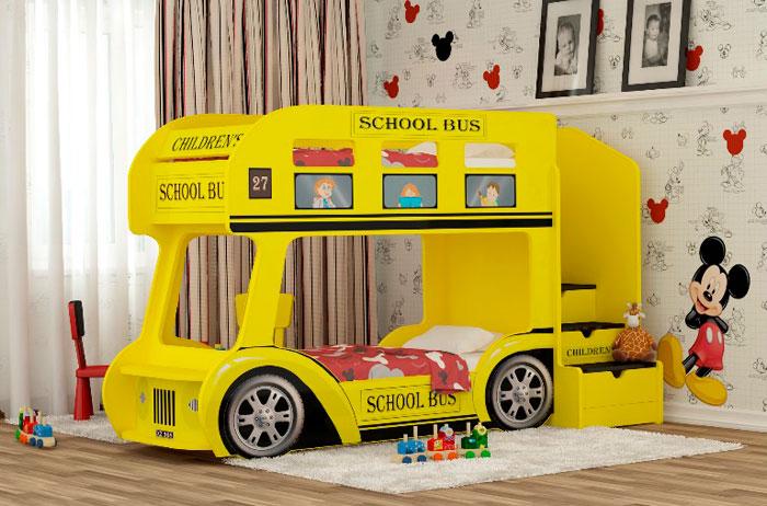 Двухъярусная кровать-автобус Red River