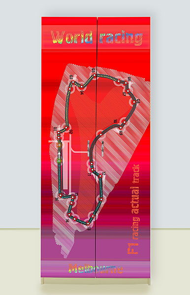 Шкаф 2х дверный Спорткар красный