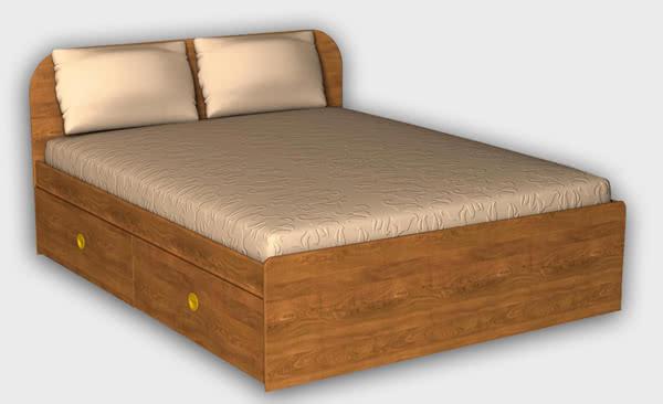 Кровать 1400 с 4 ящиками ГРОС, СМ-4