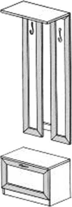 Тумба с вешалкой ГРОС серии Алена ПМ 14 (рамка)