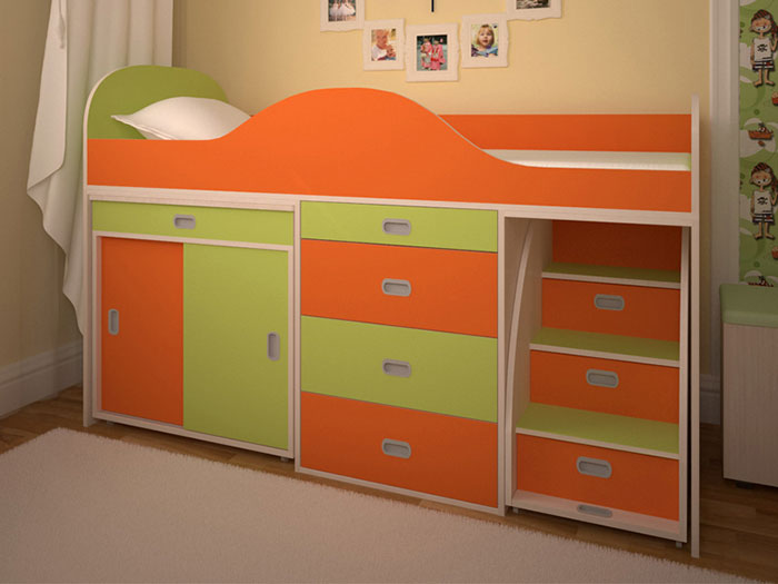 Кровать-чердак Малыш Люкс