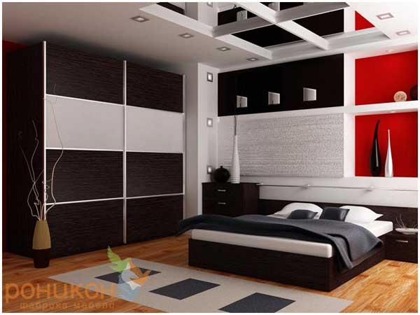 Шкаф-купе Роникон Люкс в спальне