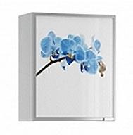 Полка навесная Анна витраж орхидея синяя, АП-60 + ФВР-60