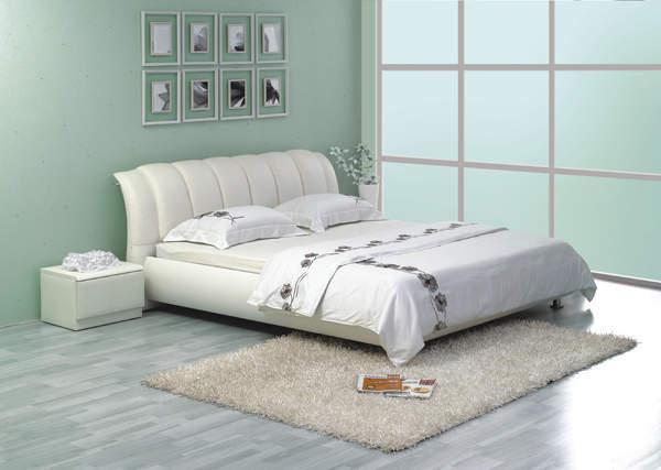 Кровать 1041 Китай.  Натуральная кожа, вставки из искусственной кожи.