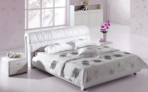 Кожаная кровать Татами