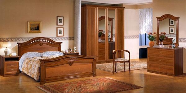 Спальня Европа - 7, кровать с 2-мя спинками