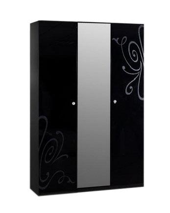 Шкаф 3-х створчатый Ярцево Европа-9 (черный), арт. 091/631