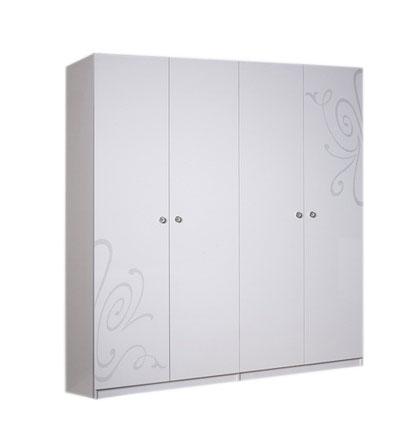 Шкаф 4-х створчатый без зеркала Ярцево Европа-9 (белый),  арт. 091/742