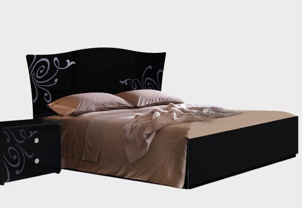 Кровать 160 Ярцево Европа-9 (черный), арт. 092/62