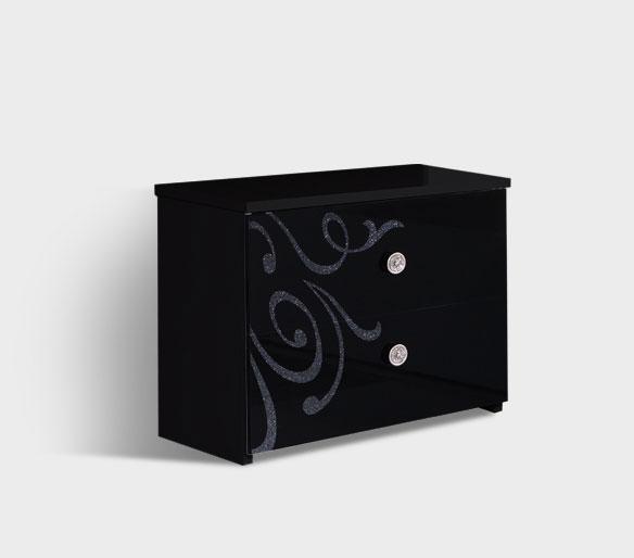 Тумба прикроватная Ярцево Европа-9 (черный), арт. 093/621