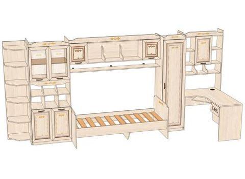 Комплект мебели для детской Аврора №8