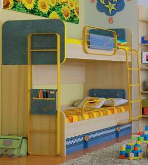 Кровать двухъярусная Любимый дом Джинс (80), ЛД 507.150