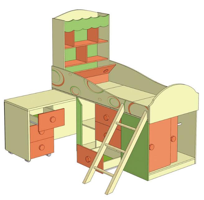Детская мебель Фруттис Любимый дом
