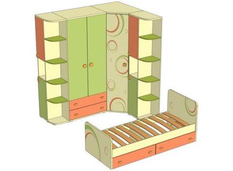 Комплект мебели для детской Фруттис №2