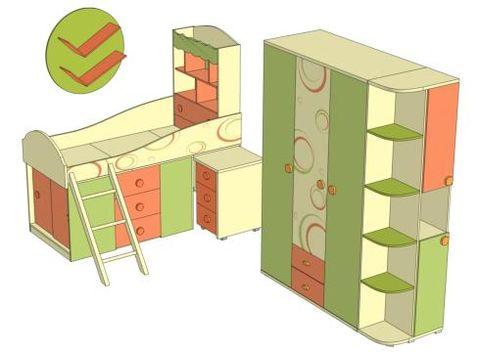 Комплект мебели для детской Фруттис №6