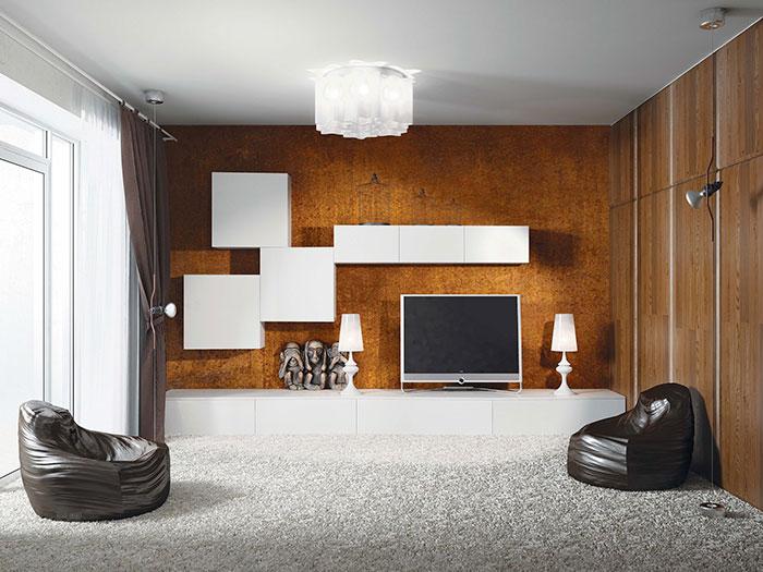Гостиная Аква Родос в стиле минимализм