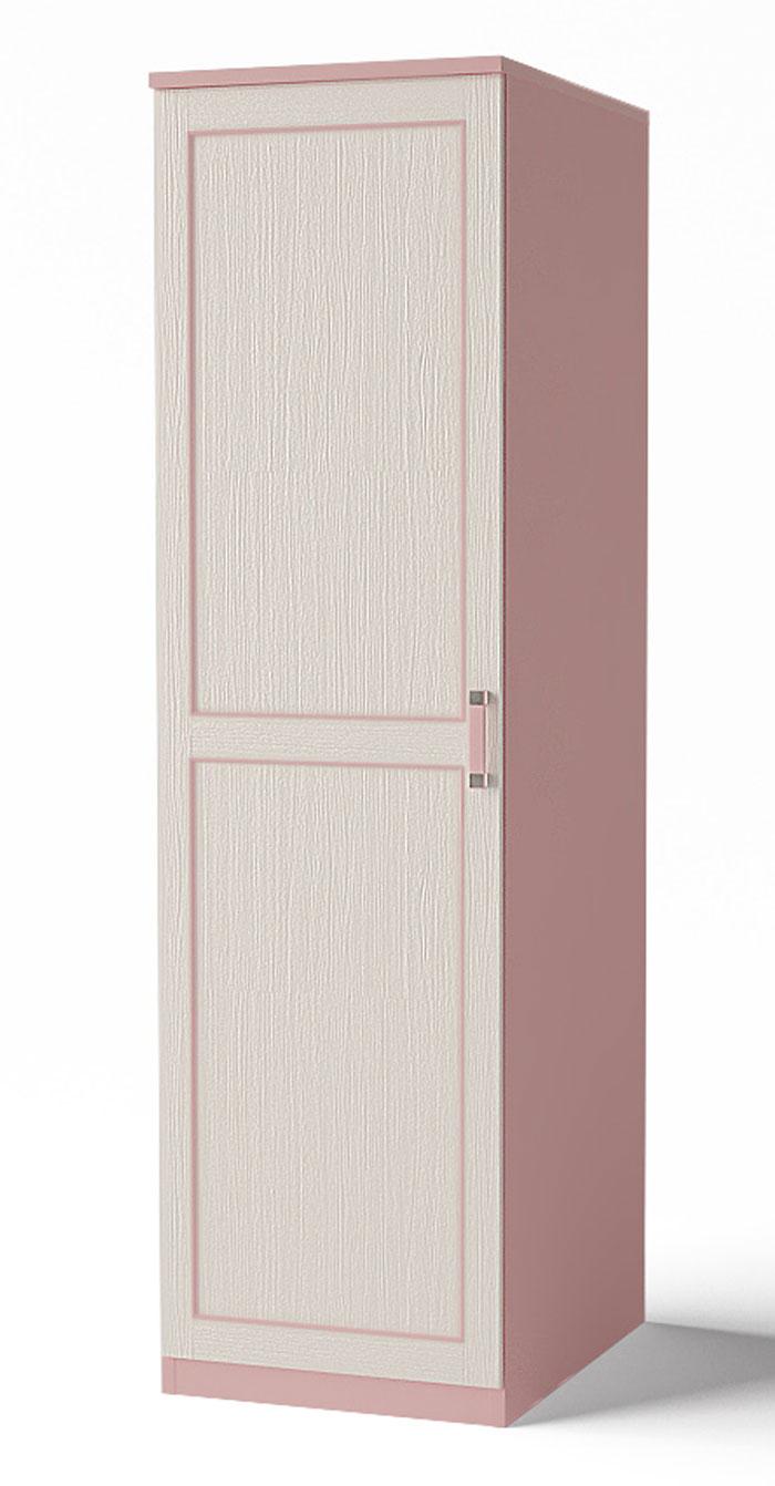 Шкаф-пенал для одежды Аква Родос Voyage 1 (розовый)