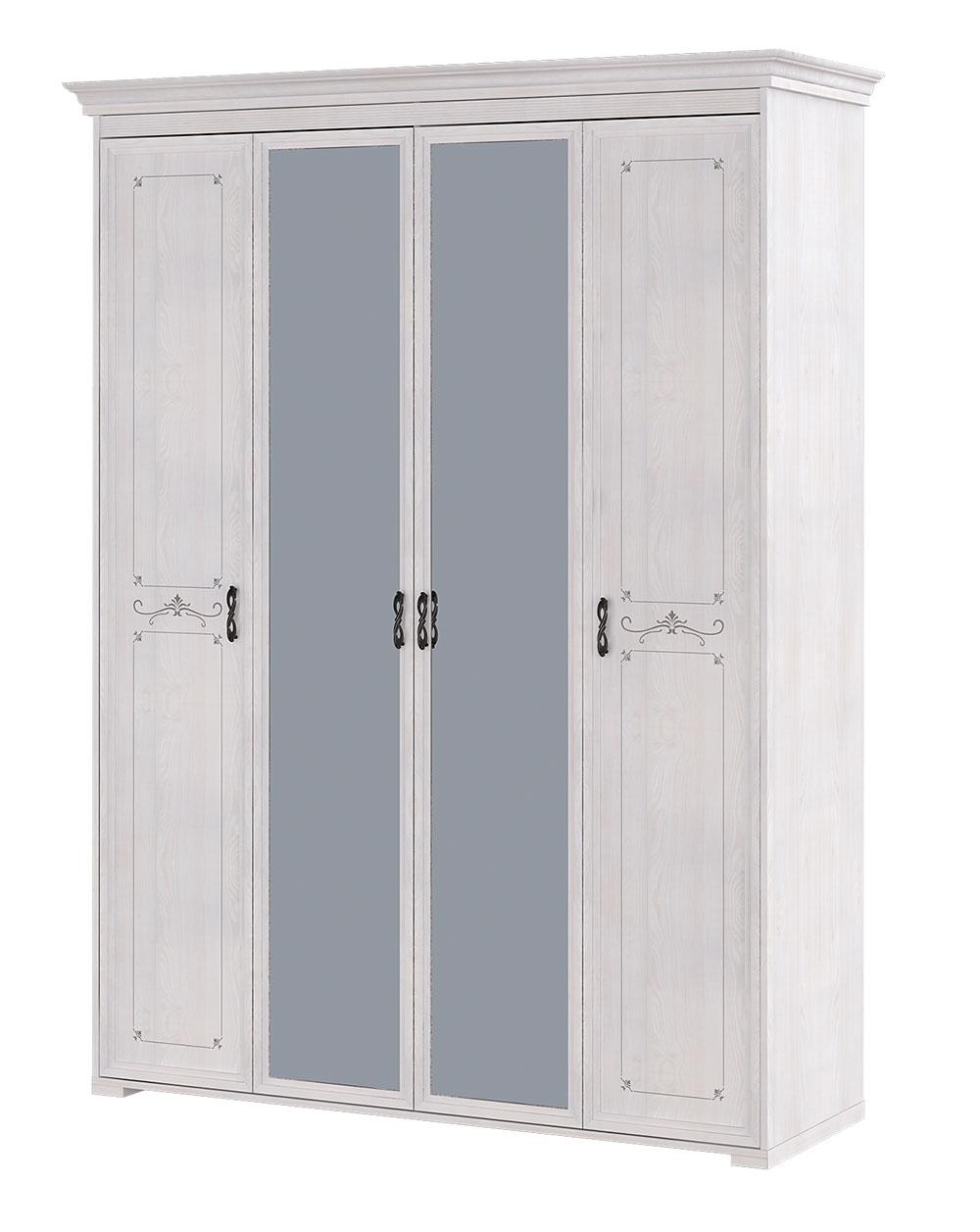 Шкаф Арника Афродита 02 4х дверный с ящиком для платья и белья