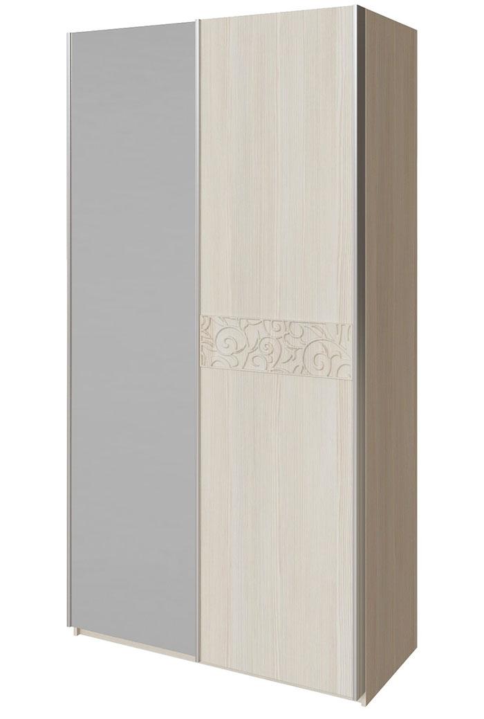 Шкаф-купе 2х дверный  с зеркалом Арника Ирис, мод. 15