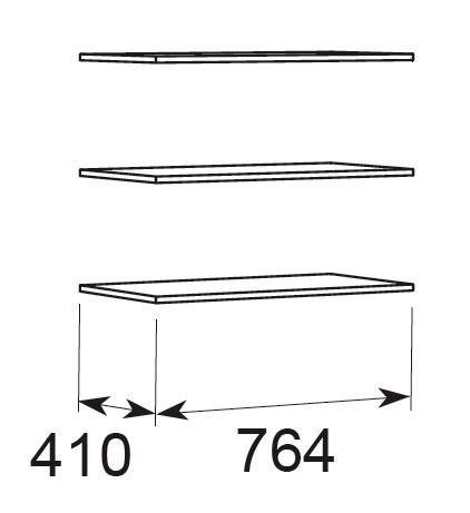 Комплект полок к шкафу 28 Арника Ирис дуб тортона,мод.31