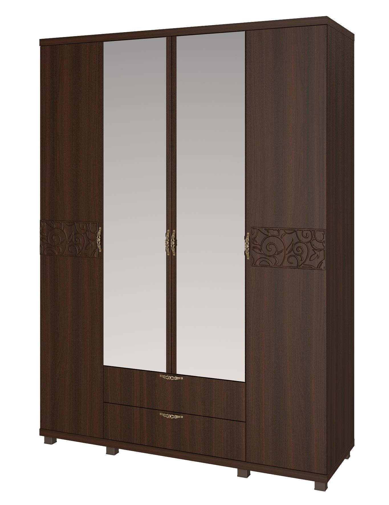 Шкаф 4х дверный для одежды с ящиками Арника Ирис дуб тортона, арт. 06