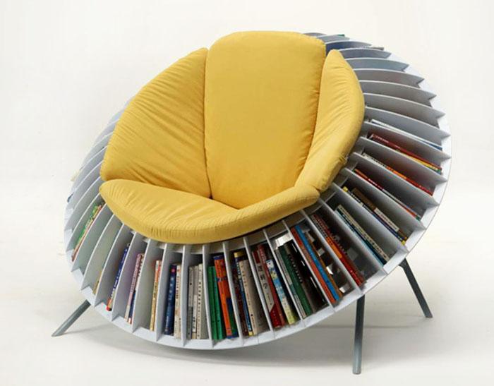 круглое кресло для книг