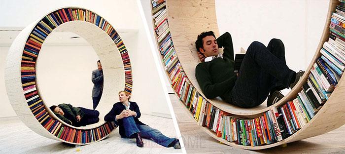 Полка-колесо для книг