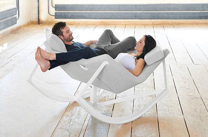 Парное кресло-качалка