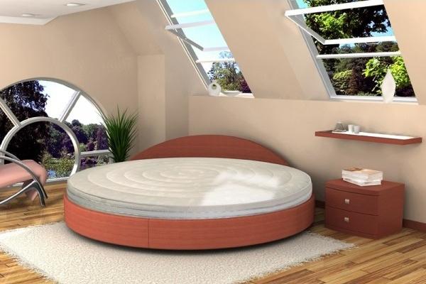 Круглая кровать Торис Амата с круглым матрасом Торис