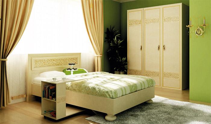 Мебель Александрия (Любимый дом) для зеленой спальни