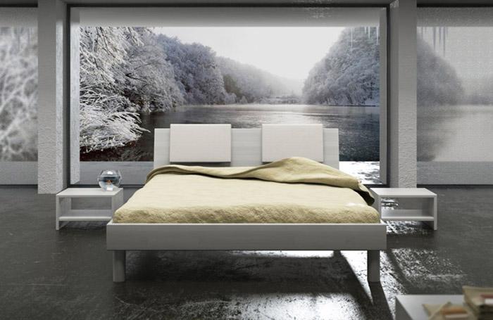 Стили дизайна спален - минимализм (Орматек Letta)