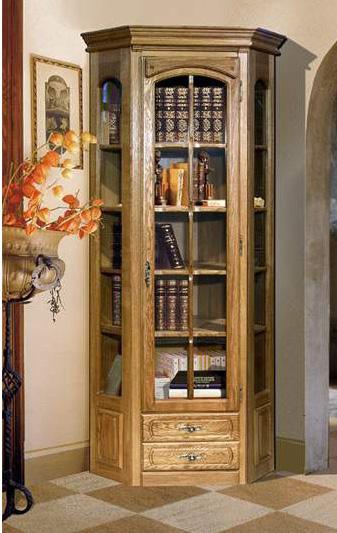Шкаф с витриной угловой Бобруйскмебель Элбург, БМ-1394-02