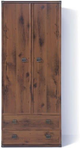 Шкаф платяной BRW Индиана JSZF2d2s (штанга)