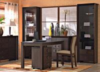 Новая модульная мебель SORRENTO BRW / Соренто БРВ отличается толстой выгнутой рамой и большими квадратными ручками