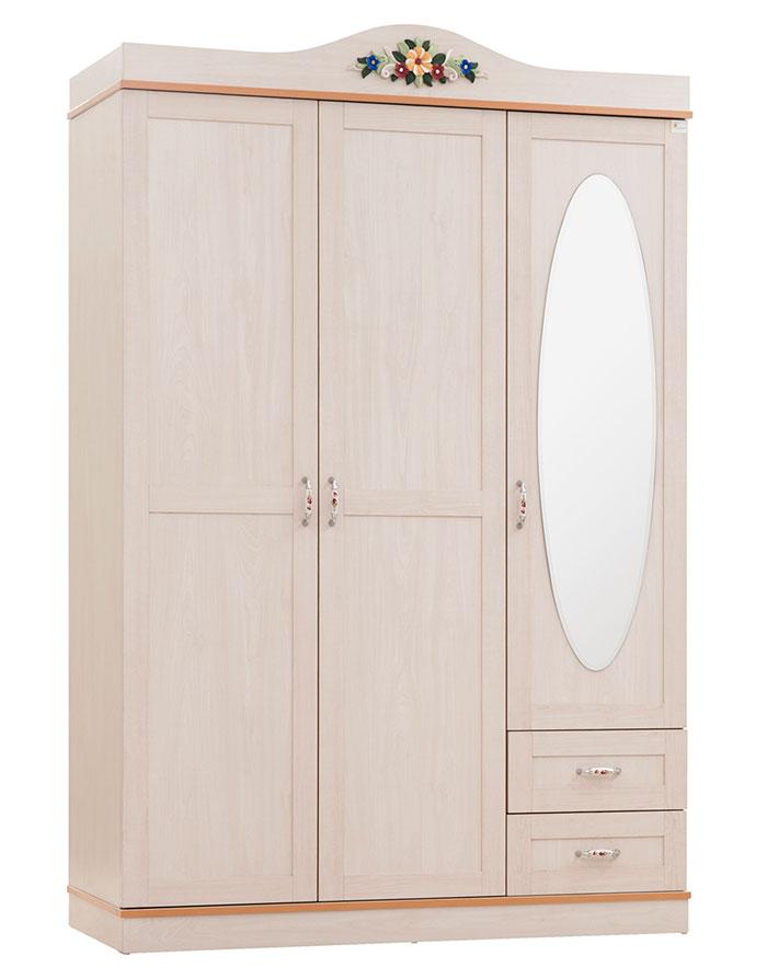Шкаф 3х дверный Calimera Pearl, Y101