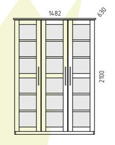 Шкаф Диприз Париж трехдверный, Д 6202