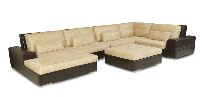 Угловой диван Монца 5 звезд модель №5 с пуфом