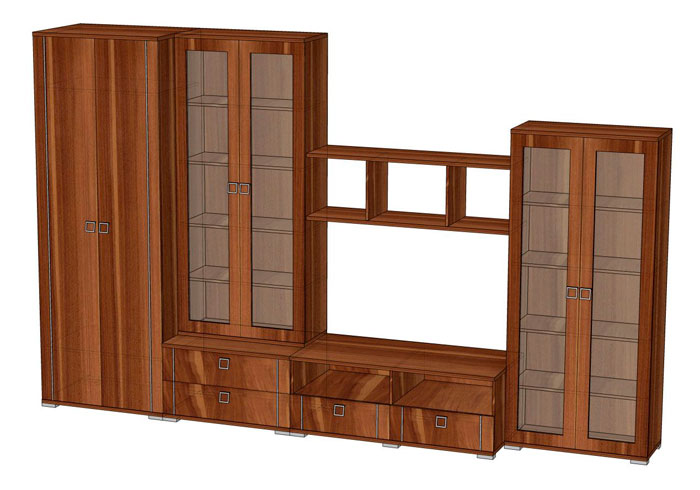 Комплект мебели для гостиной Эрика 2, комплектация 2