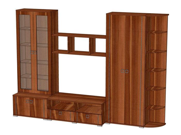 Комплект мебели для гостиной Эрика 2, комплектация 3