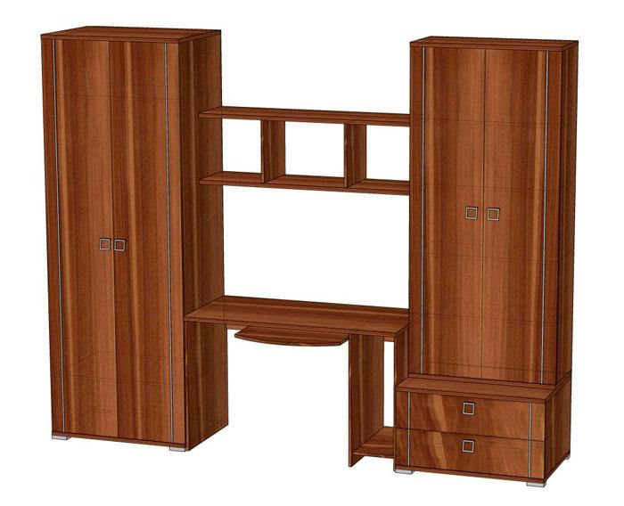 Комплект мебели для детской комнаты Эрика 2, комплектация 2