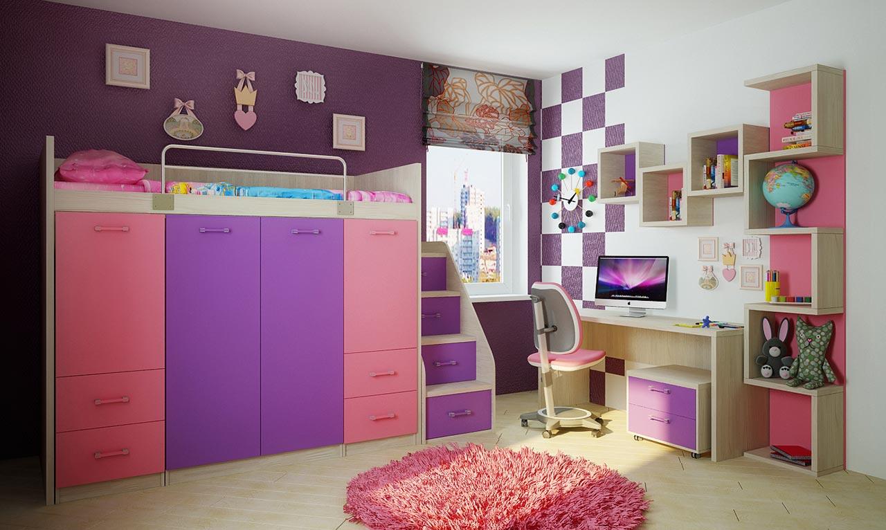 Мебель для детской  Фанки Сити, комплектация 3